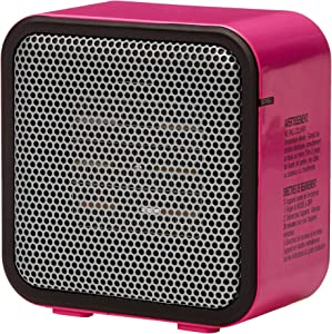 AmazonBasics 500-Watt Ceramic Small Space Personal Mini Heater - Pink