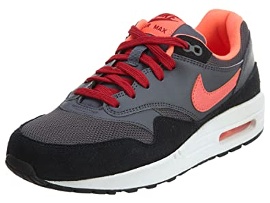 New fashion Running Shoes Mens Nike Air Max 1 Dark Grey/Gym Red/Black/Hot Lava