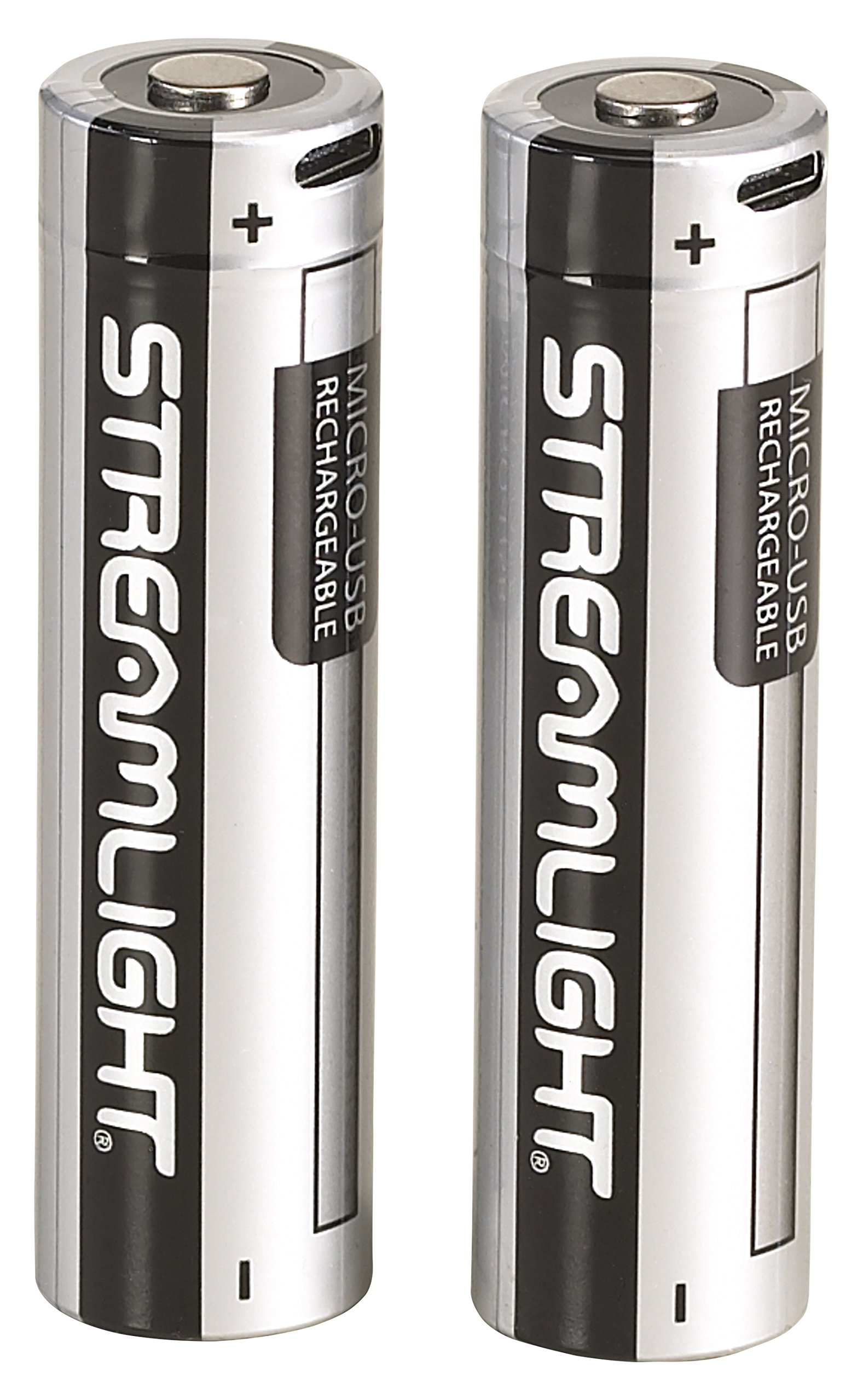 Streamlight 22102 USB Rechargeable 18650 Lithium Ion Battery, 2-Pack