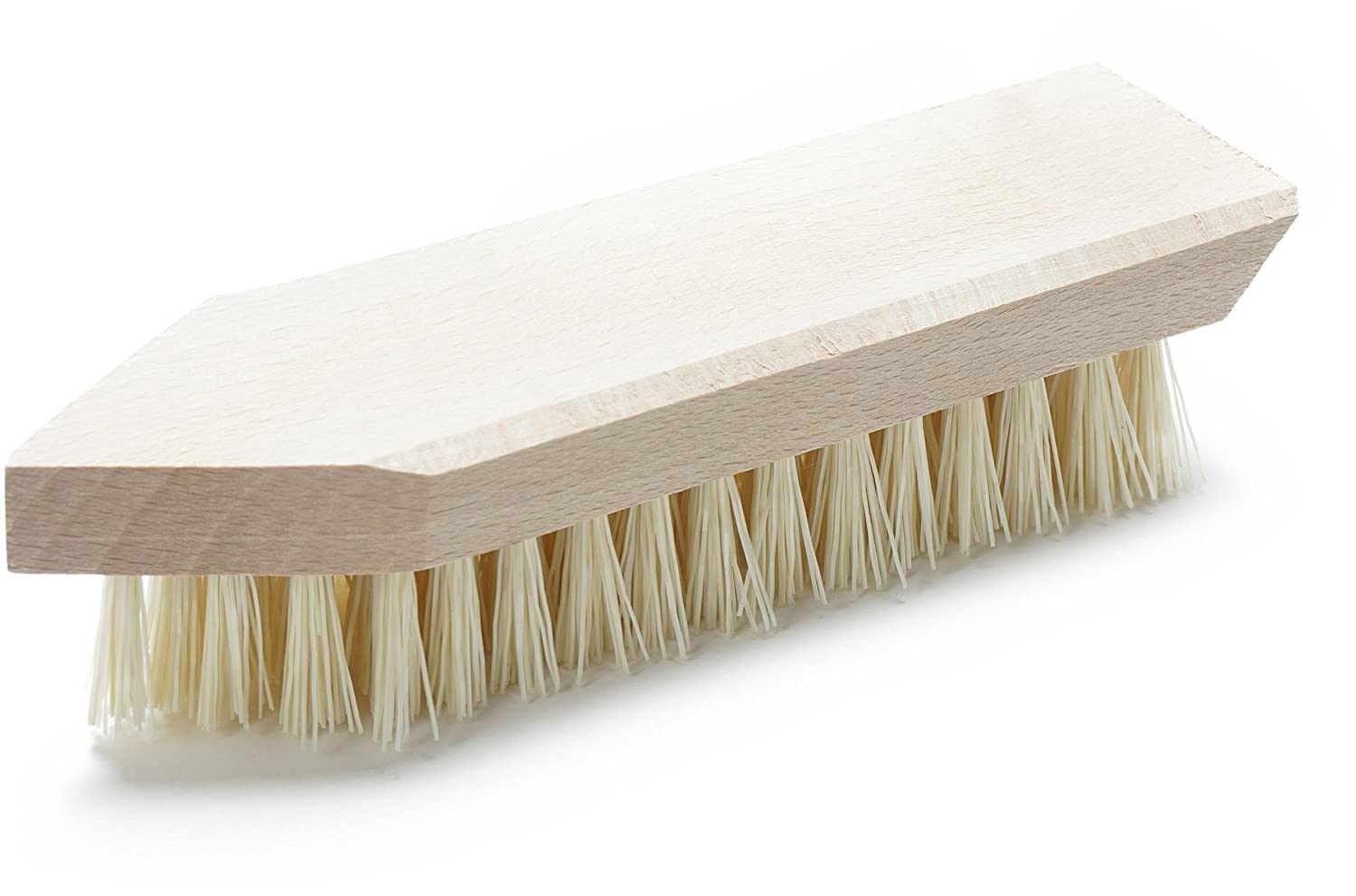 Konex Fiber Economy Utility Cleaning Brush. Heavy Duty Scrub Brush With Wood Handle. (Peanut shaped) AX-AY-ABHI-96344