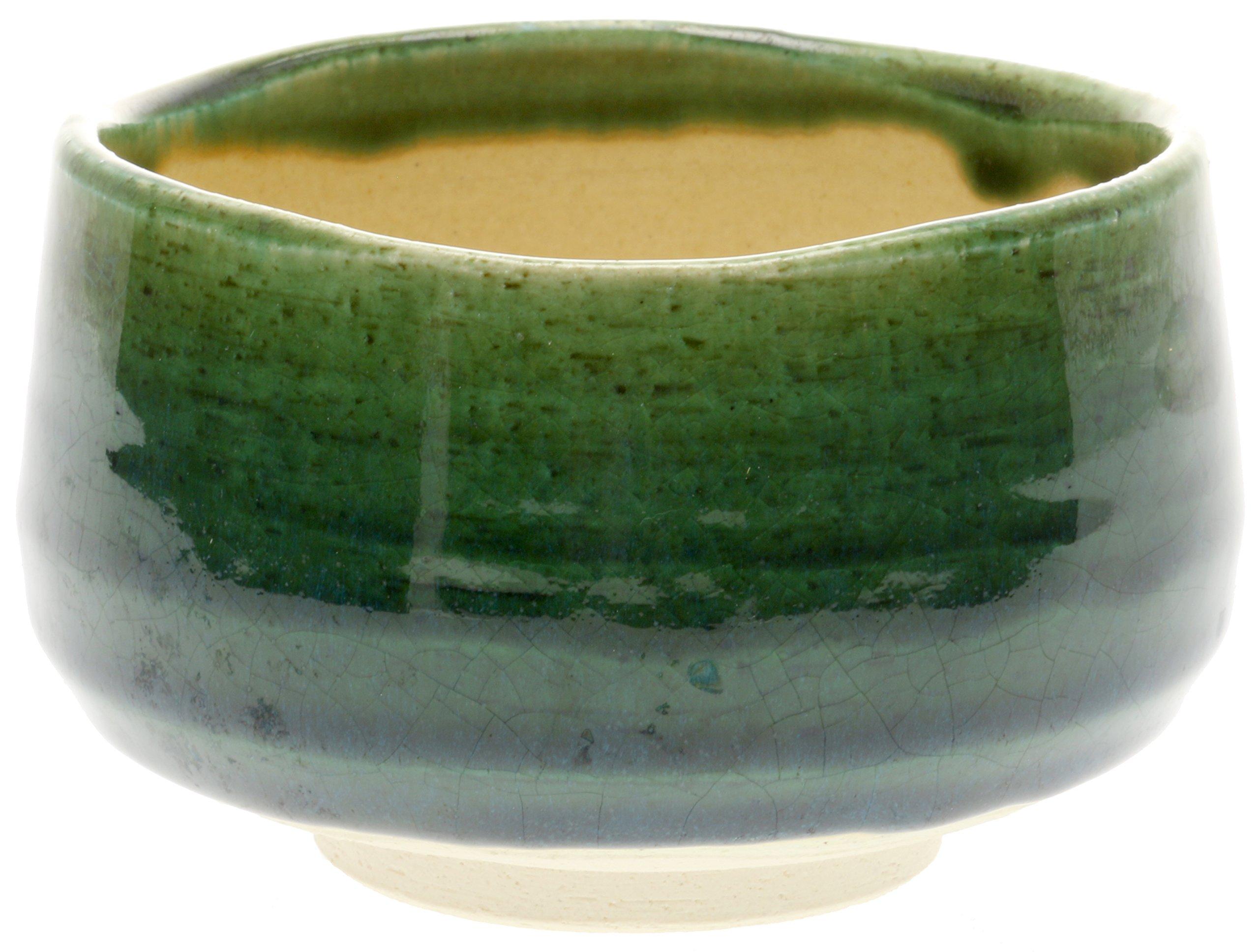 Kotobuki 114-518 Matcha Chawan, Green