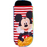 ReadyBed Mickey Mouse Kids Air Bed and Sleeping Bag-in-1, Polyester One Size