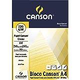 Bloco Desenho Creme A4 200g/m², Canson, 66667042, Creme, 20 Folhas