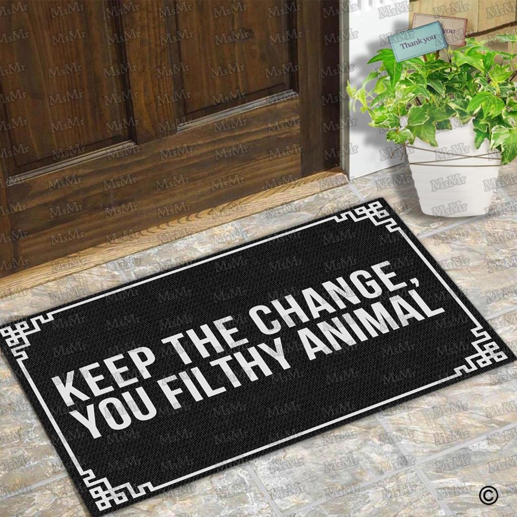 Doormat keep the change you filthy animal doormat photographs : Amazon.com : MsMr Entrance Floor Mat Funny Doormat Keep The Change ...