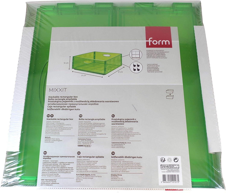 Mixxit Form Boite De Rangement Rectangulaire Empilable Design Translucide 31 X 31 X 14 Cm Rouge Amazon Fr Cuisine Maison