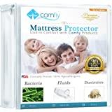 Comfiy Mattress Protector Hypoallergenic Bed Cover against Leaks, Bedbugs, and Dust Mites Full 1 YEAR WARRANTY