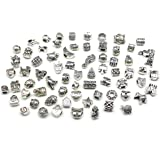 Nambeads © 10 x Mixed Tibetan Silver Charms to fit Pandora style charm bracelets. Check out our affordable bulk packs of glass beads,charms,clip stops,rhinestones,enamels etc.