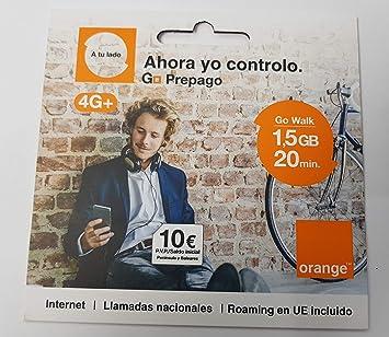 Tarjeta SIM Orange - Tarifa Go Walk: Amazon.es: Electrónica