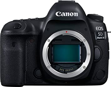Canon EOS 5D Mark IV 30.4MP Digital SLR Camera (Black) with Body Only Digital SLR Cameras at amazon