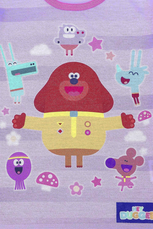 Official Hey Duggee Badges Short Girls Pink Pyjamas