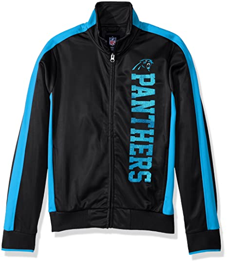 GIII For Her NFL Carolina Panthers Women s Drop Back Track Jacket 32bb5d126