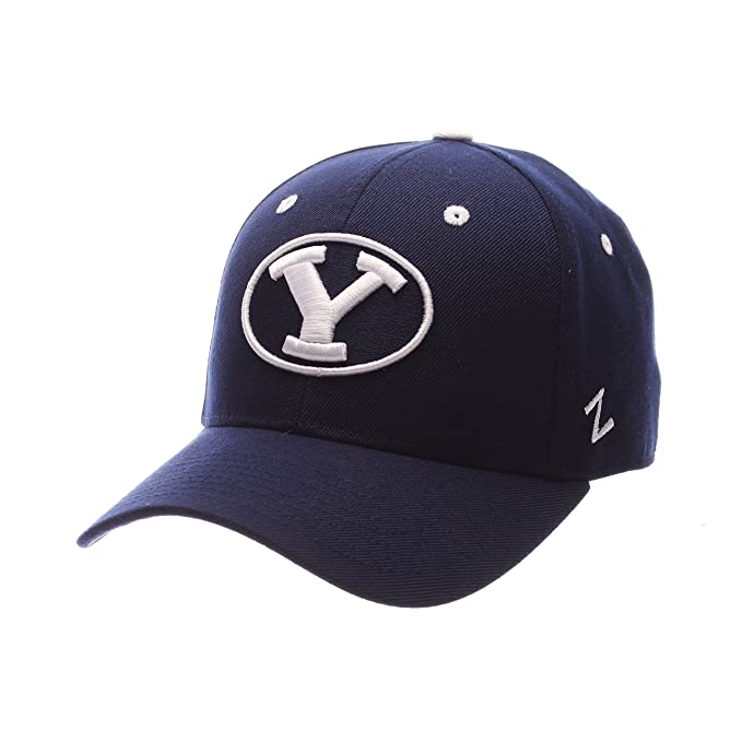 the latest 7f3a6 03100 ZHATS NCAA BYU Cougars Men s DH Fitted Cap, Navy, Size 7