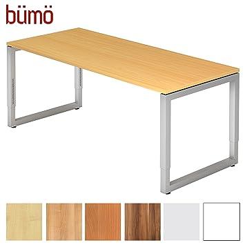 Bümö® massiver Schreibtisch höhenverstellbar | Bürotisch extrem ...
