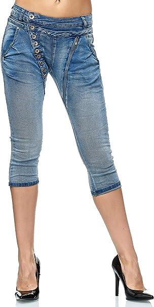 Elara Damen Jeans High Waist Slim Fit Chunkyrayan