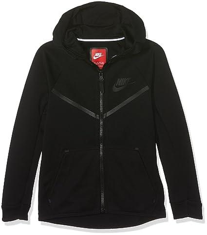 6f3a9d97616c Amazon.com  Nike Boys Sportswear Tech Fleece Windrunner Hoodie Black ...