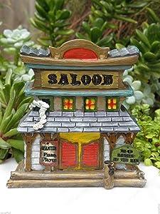 Miniature Dollhouse FAIRY GARDEN House ~ Wild West WESTERN Saloon ~ NEW Fairy Garden, Micro Landscape, Craft Decor