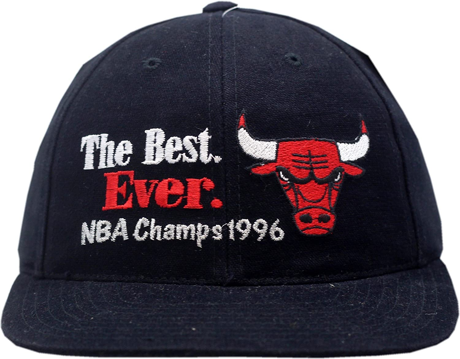 30be10c53d114d Amazon.com : Vintage Chicago Bulls Snapback Hat 1996 NBA Champions The Best  Ever CB5051 : Sports & Outdoors