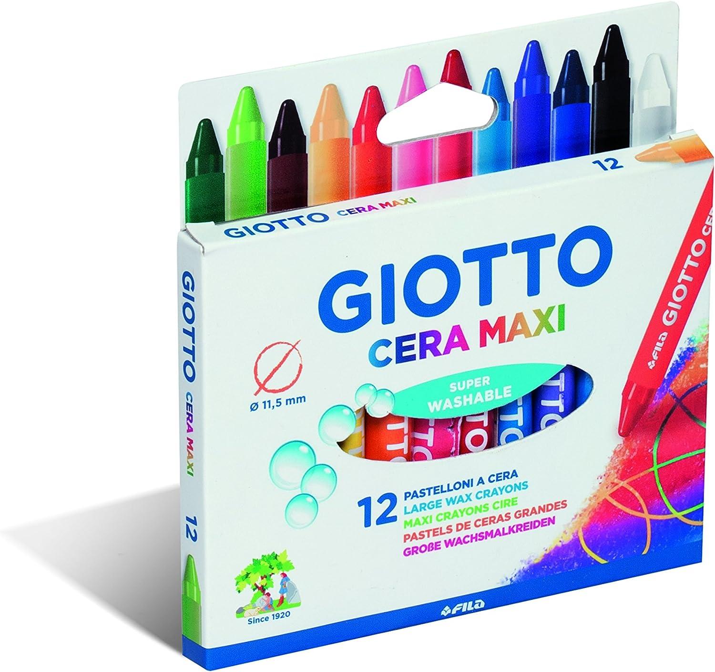 Giotto 2912 - Ceras, 12 unidades: Amazon.es: Oficina y papelería