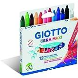 Giotto pastelli a cera Maxi in astuccio da 12 colori