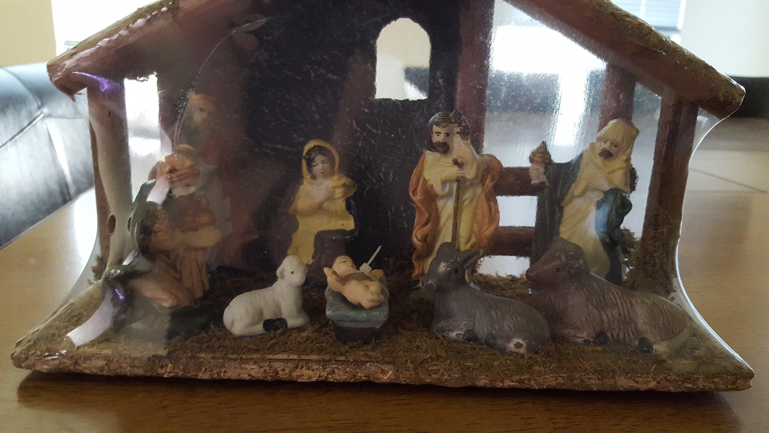 11 Piece Hand Painted Nativity Set