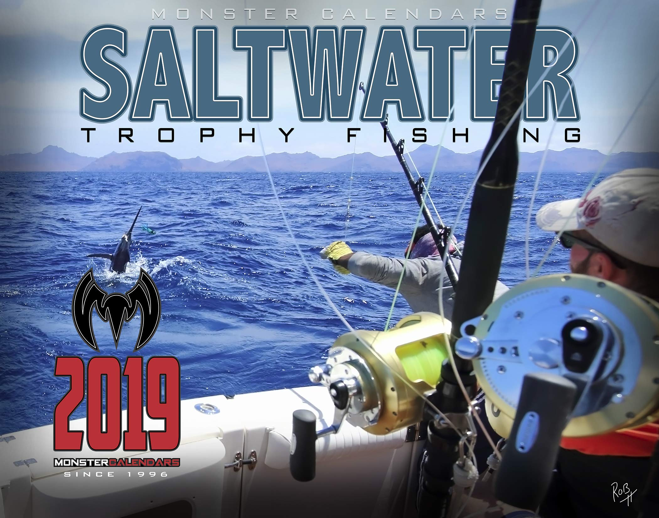 (5-Pack) 2019 Saltwater Fishing Calendar by Monster Calendars/Robert King by The KING Company
