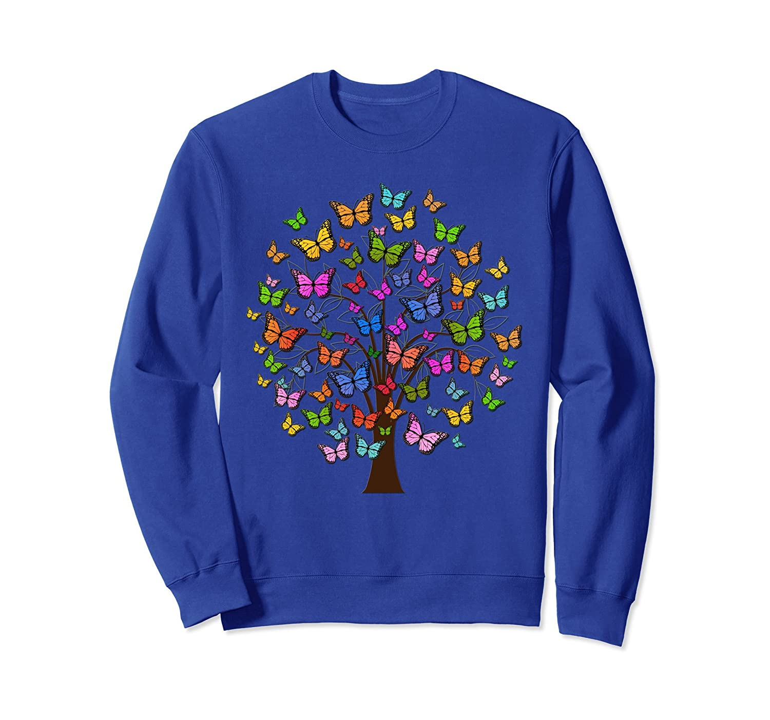 Butterfly Sweatshirt Nature Tree Mother's Day Mom Lover Gift-alottee gift