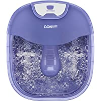 Conair Heat Sense Foot Spa/Pedicure Spa with Massaging Foot Rollers, Bubbles, and Heat
