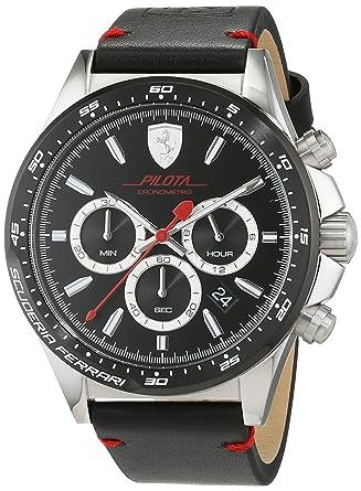 le dernier 263cb 2ab17 Scuderia Ferrari Homme Analogique Classique Quartz Montres bracelet avec  bracelet en Cuir - 830389