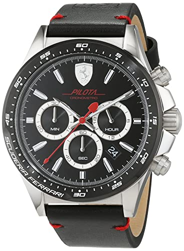 Reloj Scuderia Ferrari para Hombre 0830389, Negro (Plateado/Negro)