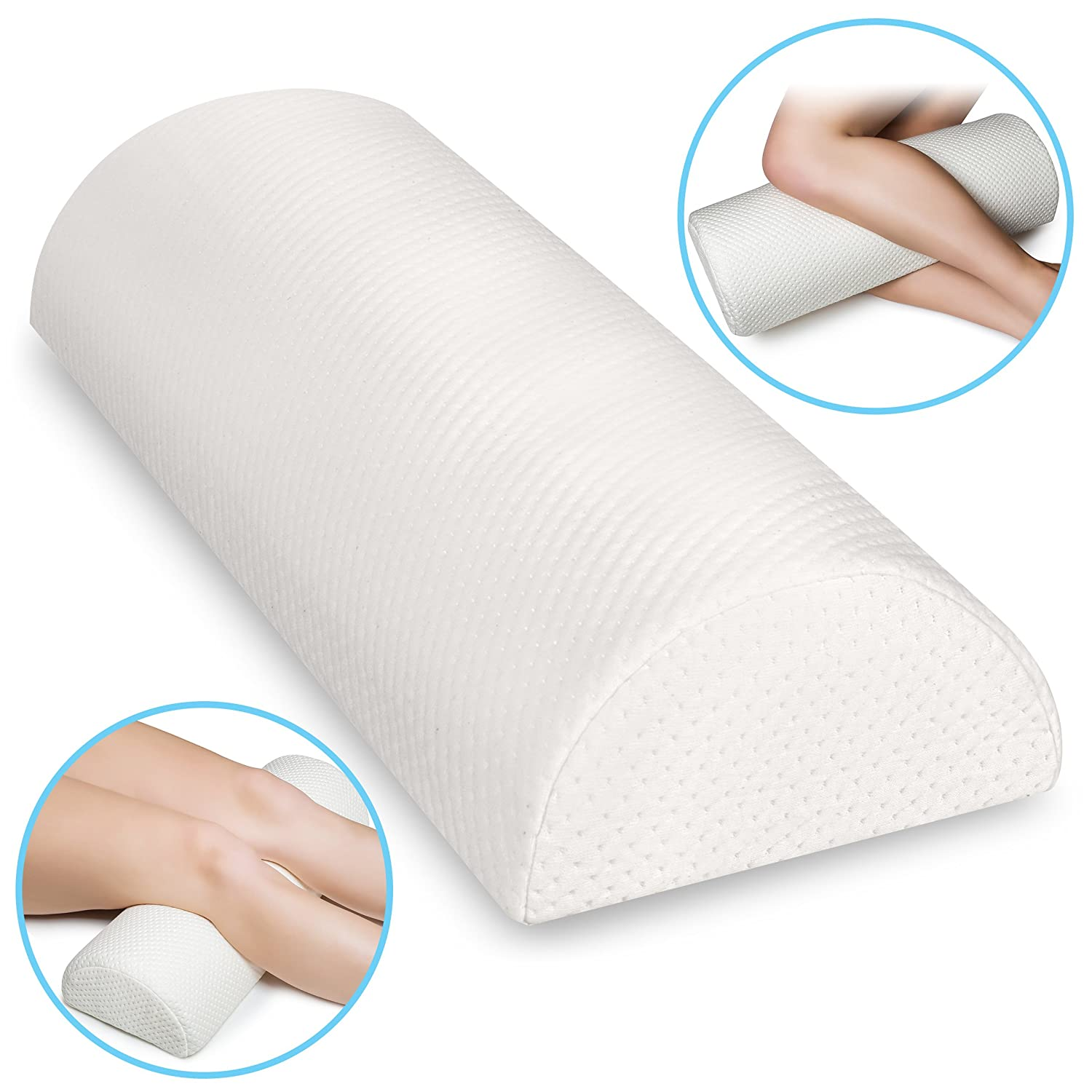 amazon com back pain relief memory foam pillow half moon bolster