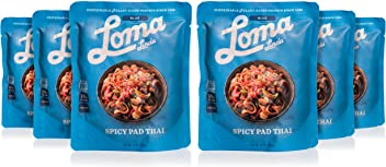 Loma Linda Blue - Vegan Complete Meal Solution - Heat & Eat Spicy Pad Thai (10 oz.) (Pack of 6) - Non-GMO
