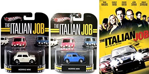 Amazoncom The Italian Job Dvd Movie Car Set Hot Wheels Retro
