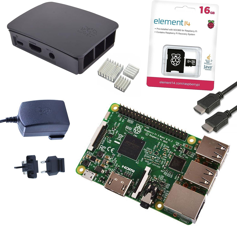 Melopero Raspberry Pi 3 Official Starter Kit Black, con Cargador ...