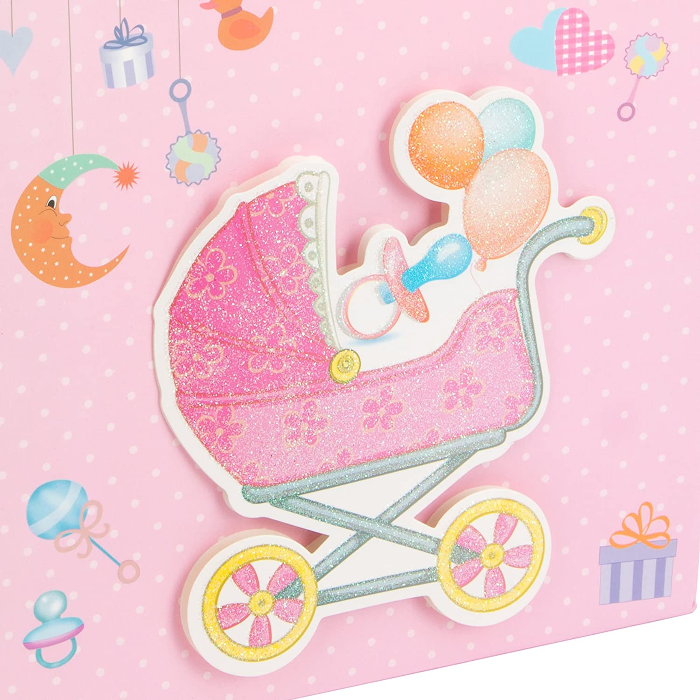 LEVIVO Baby Design 1, Pink Bolsa de Regalo 3D para bebé, diseño 1, Rosa, Paper, 26x12x32 cm: Amazon.es: Hogar
