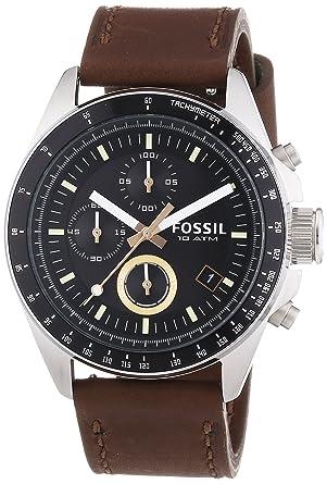 Fossil CH2885 Reloj cronógrafo para hombre de cuarzo con correa de cuero: Fossil: Amazon.es: Relojes