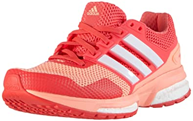 newest collection 6e1c0 721e7 adidas Damen Response Boost 2 Laufschuhe Pink (Sun Glow S16Ftwr WhiteShock