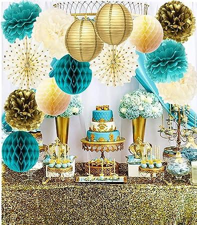 Amazon.com: Decoraciones para fiestas de cumpleaños de color ...