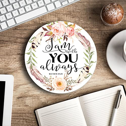 Merveilleux I Am With You Always   Christian Quote   Inspirational Office Decor Mouse  Pad   Pretty