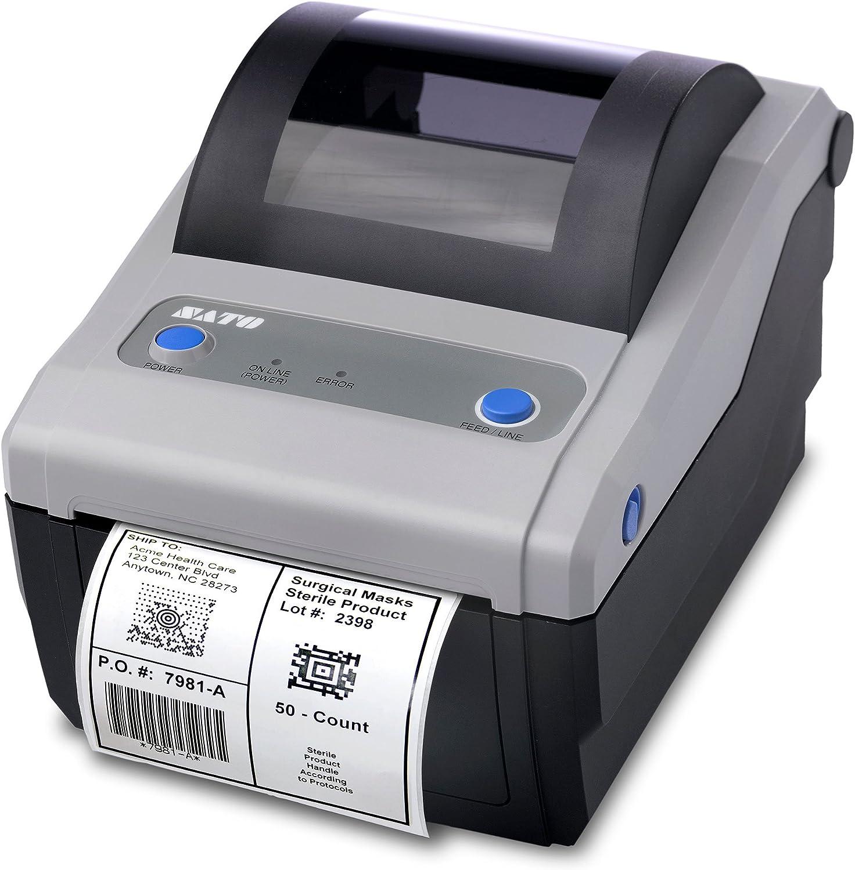 Amazon.com : Sato CG408 Thermal Transfer Printer ...