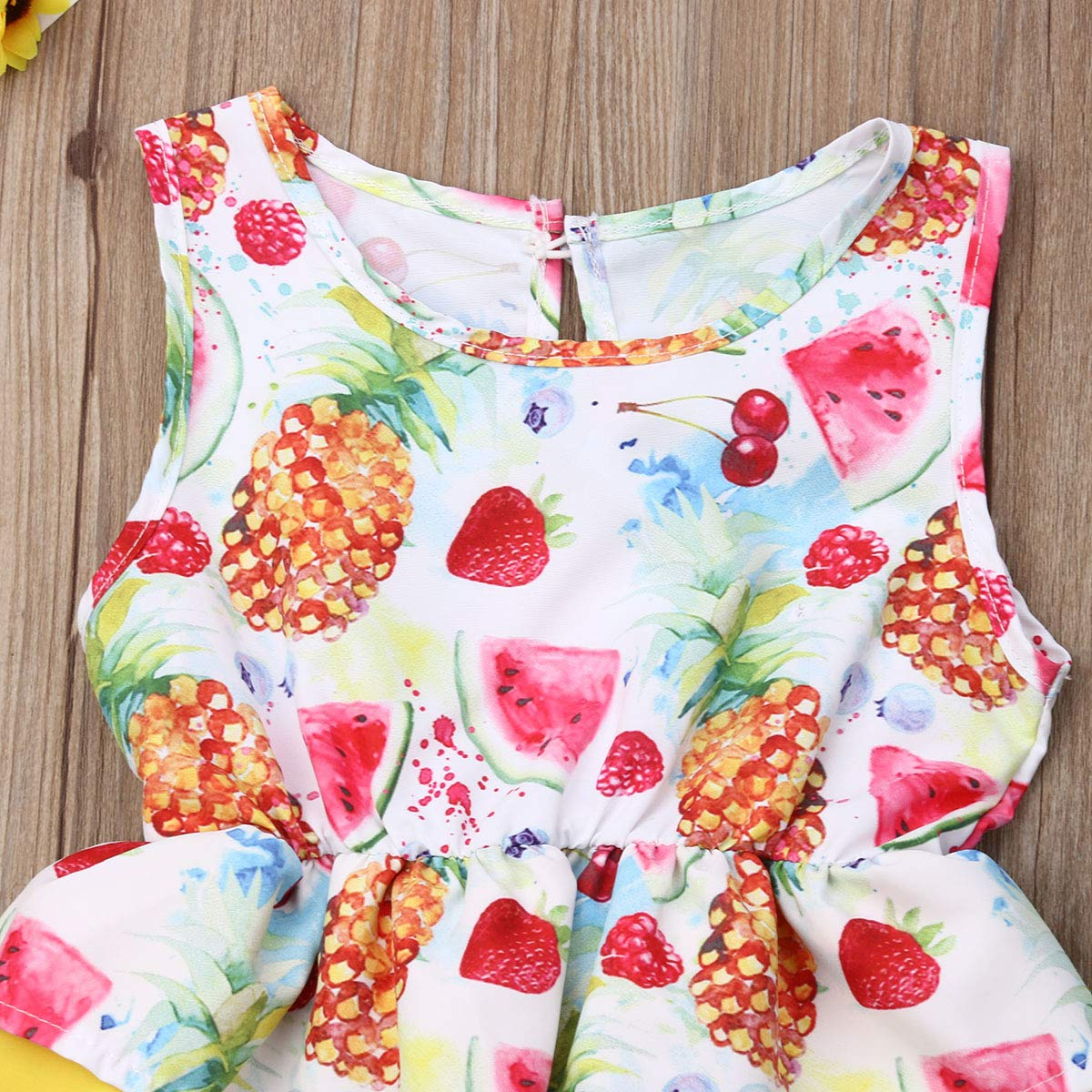 Lefyira Infant Baby Girls Tutu Rompers Dress Ruffle Backless Bodysuit Dance Clothes for Photography