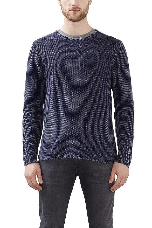 027ee2i005, Suéter para Hombre, Azul (Ink), Medium Esprit