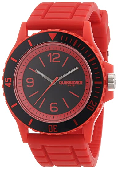 Quiksilver M163BRARED - Reloj para hombres, correa de goma color rojo: Amazon.es: Relojes