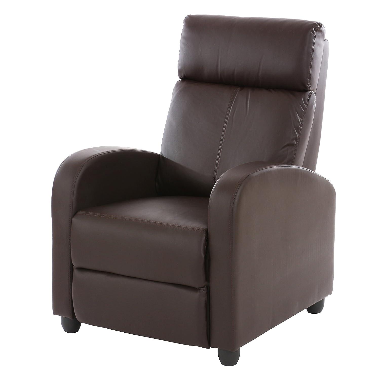 Relaxsessel garten braun  Fernsehsessel Relaxsessel Liege Sessel Denver, Kunstleder ~ braun ...