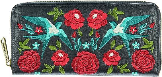 LOUNGEFLY - Cartera Piel sintética con Flores Bordadas