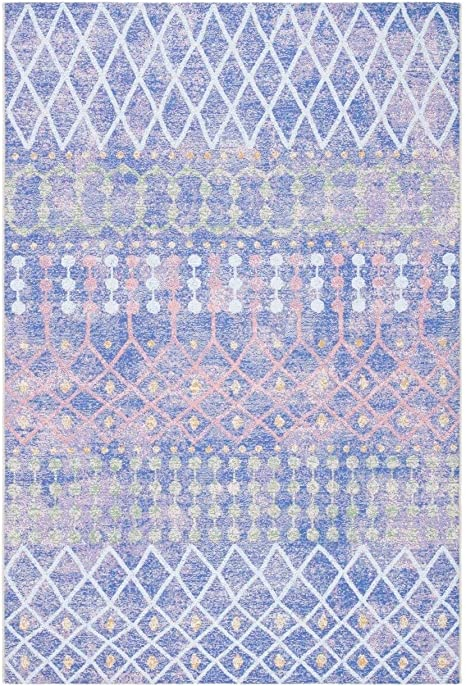 Safavieh Summer Collection Smr452m Indoor Outdoor Area Rug 6 7 Round Blue Light Blue Amazon Ca Home Kitchen
