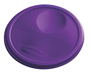 Rubbermaid Commercial Lid (Lid Only) for Round Food Storage Container, Fits 8 Qt. Containers, Purple (1980384)