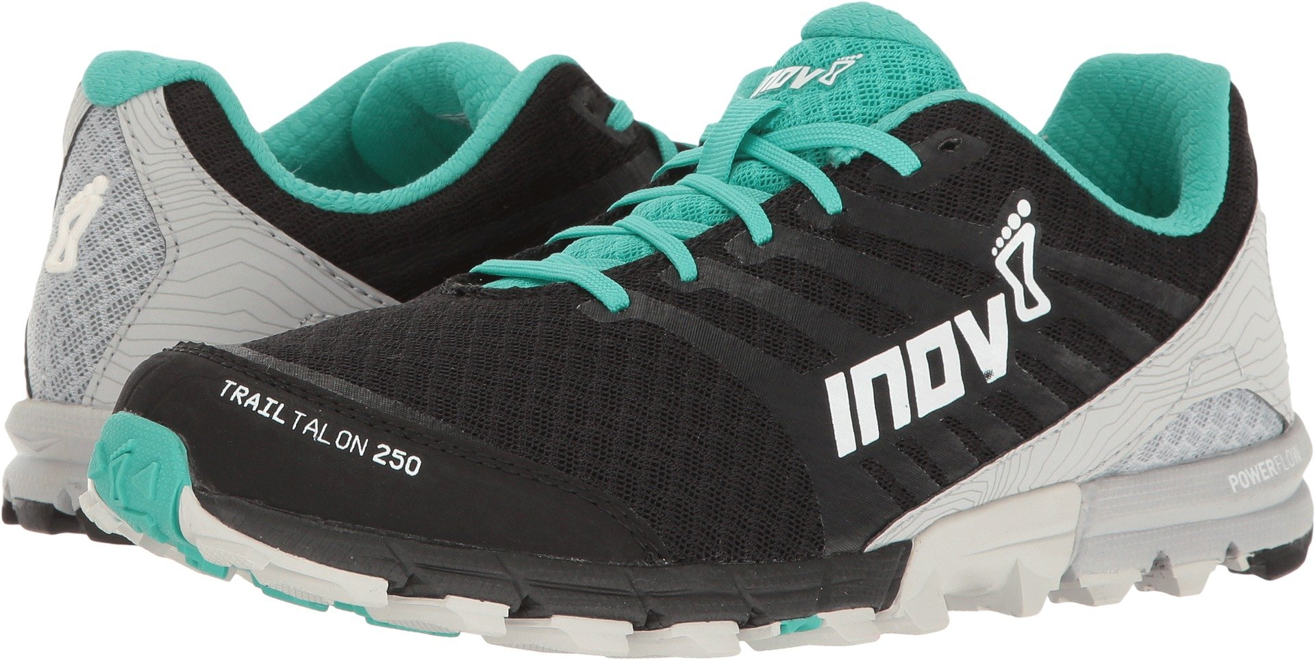 Inov-8 2017 Women's Trailtalon 250 Trail Running Shoe - Black/Teal/Light Grey - 000139-BKTLLG-S-01 (Black/Teal/Light Grey - M4.5/W6)