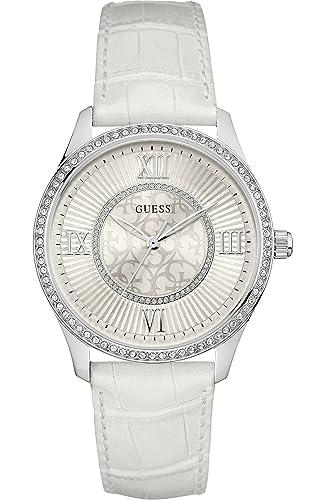 Guess Reloj Análogo clásico para Mujer de Cuarzo con Correa en Cuero W0768L4: Guess: Amazon.es: Relojes