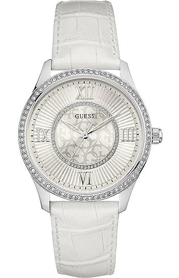 Guess Reloj Análogo clásico para Mujer de Cuarzo con Correa en Cuero W0768L4