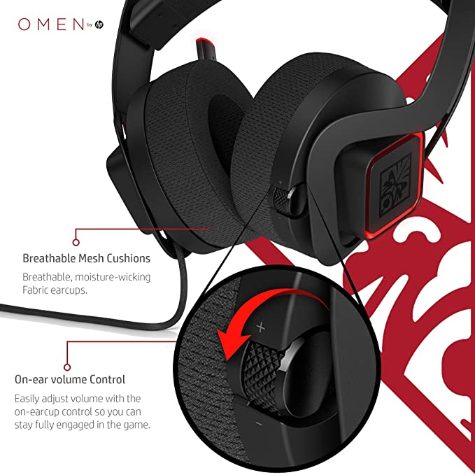 5d9d7f40e72 Amazon.com: OMEN by HP Mindframe PC Gaming Headset with World's First  FrostCap Active Cooling Technology (black): Computers & Accessories